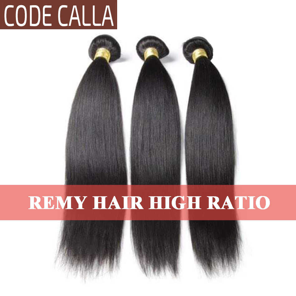 Code Calla Brazilian Remy Human Hair Extension 8-30 inch Straight Hair Bundles Natural Black 1B Color Free Shipping For Women
