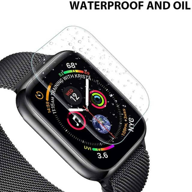 Screen Protector Clear Full Protective Film for iWatch 4 5 6 SE 40MM 44MM Not Tempered Glass for Apple Watch 3 2 1 38MM 42MM 2