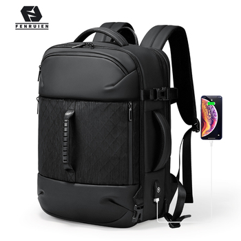 Fenruien New Man Backpack Fashion Waterproof Laptop Backpacks USB Charging Backpacking Multifunctional Large Capacity Travel Bag fenruien brand 17 inch laptop backpack men usb charging travel backpacking school bag nylon waterproof anti theft backpacks