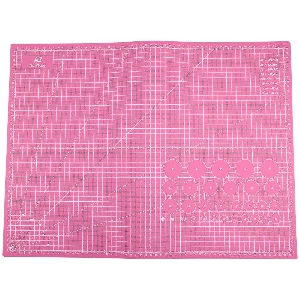 1Pc A2 Size Cutting Mat Double Sided Cutting Board Self Healing PVC Mat