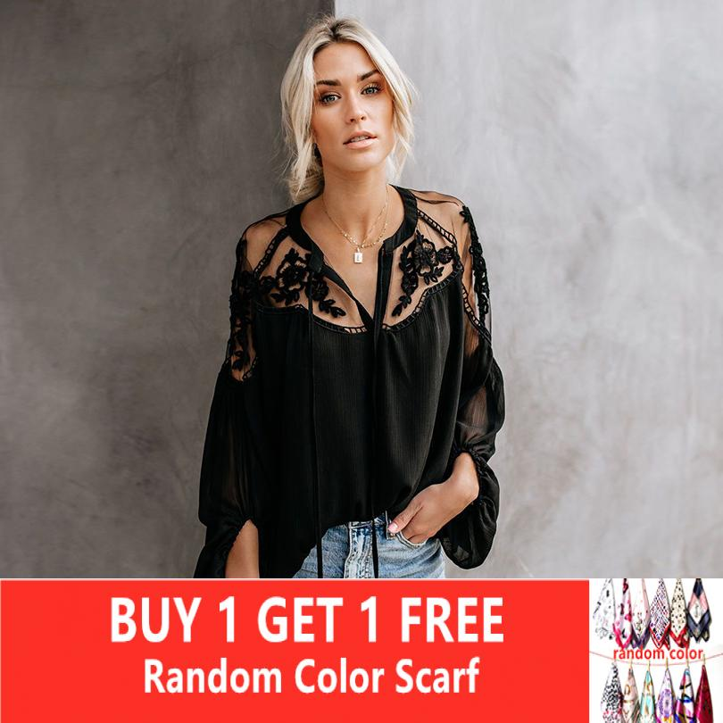 Summer Tops For Women Summer Blouse V Neck Lace/chiffon/black/white Blouse  Womens Tops And Blouses Plus Size Women Shirts