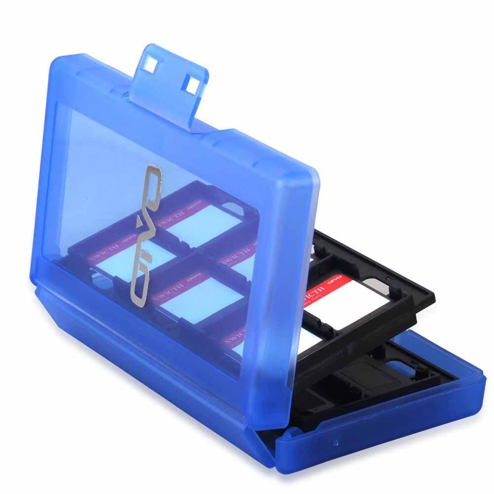N-Switch 24 Grids Game Card Case Multi Layers Storage 24 Sub-Boxes TF SD Card Organizer Box Switch Card Bin