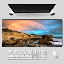 XGZ Large-size mouse pad, beautiful landscape pattern, keyboard e-sports, high-quality table mat
