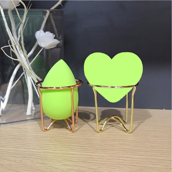 PERALICE Carbon Steel Makeup Beauty Egg Powder Puff Sponge Display Stand Alloy Drying Holder Rack Cosmetic Puff Holder Dropship 2 pcs makeup sponge holder drying stand