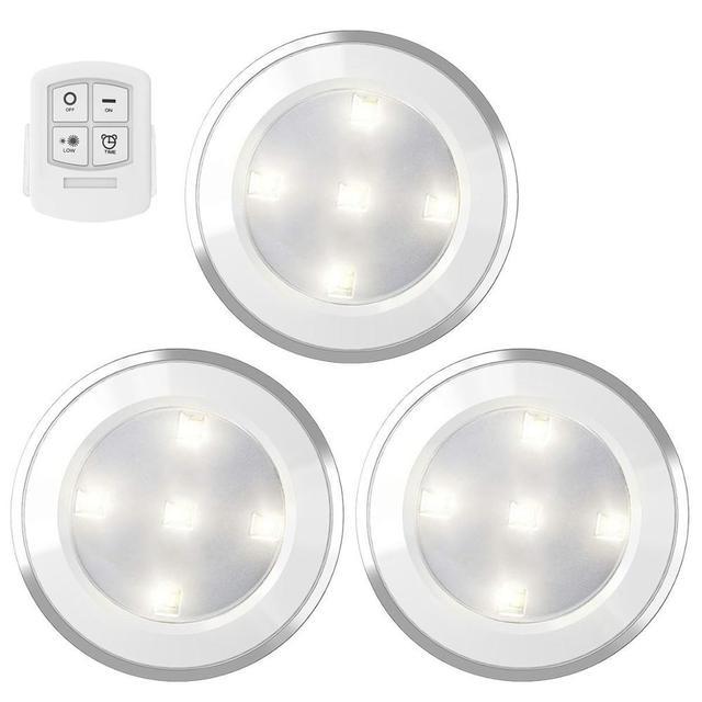 Możliwość przyciemniania oświetlenie szafki Led zasilany z baterii lampy Led bezprzewodowy czujnik dotykowy lub pilot szafa schody lampka nocna tanie i dobre opinie HAIMAITONG CN (pochodzenie) NONE Ogniwo suche Touch 50000hours 5 leds puck lights 5000-6000K(White) 3*AAA Batteries (not included)
