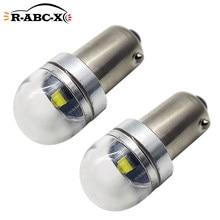 RUIANDSION 2 pièces C'REE BA9S T4W dégagement de voiture côté positionnement lumières 6V-30V 12V 24V petite ampoule de LED pour camions blanc 6000K 150Lm