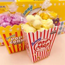 Три случайных 6 шт./упак. попкорн для укладки волос ластик принадлежности для детей школьный ластик игрушки канцелярских принадлежностей карандаш детских подарков V7V4