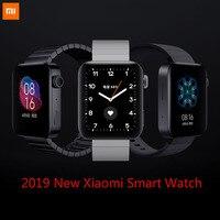 2019 새로운 xiaomi 스마트 시계 miui 시계 xiaomi 착용 app bluetooth4.2 wifi pogo 충전 심장 정격 활동 추적