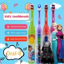 Oral B cepillo de dientes eléctrico para niños, higiene bucal, limpiador de dientes, rotación de potencia, dibujos animados, Sónico