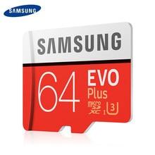 100% SAMSUNG TF tarjetas SD Trans Flash de tarjeta de memoria Microsd tarjeta Micro SD 64GB SDHC SDXC grado EVO + Clase 10 UHS tf