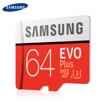 100%SAMSUNG TF SD Cards Trans Flash Microsd Memory Card Micro SD 64GB SDHC SDXC Grade EVO+ Class 10 UHS tf