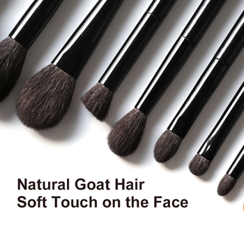 OVW 6/28 pcs Natural Goat Pile Professional Makeup Brushes Face Set Eye Shadow Blending Eyeliner Eyebrow Brush For Makeup Tool 3