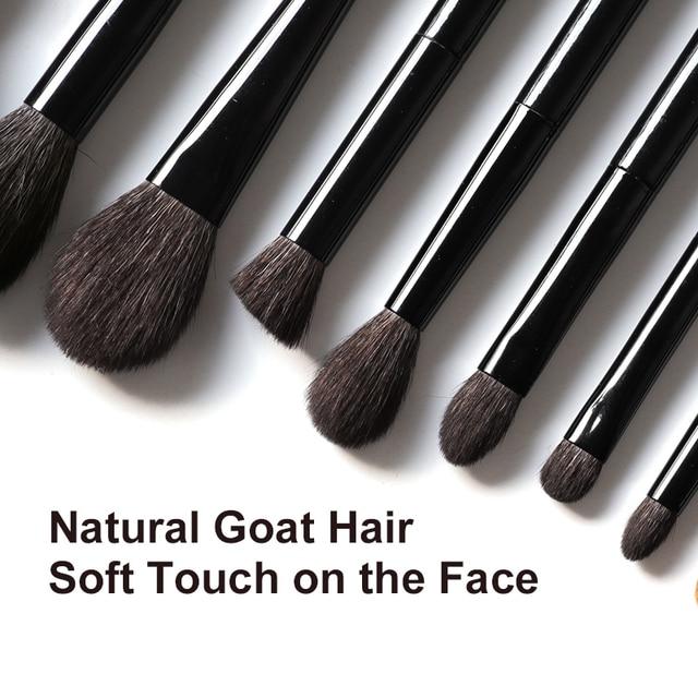 OVW 6/28 pcs Natural Goat Pile Professional Makeup Brushes Face Set Eye Shadow Blending Eyeliner Eyebrow Brush For Makeup Tool 3
