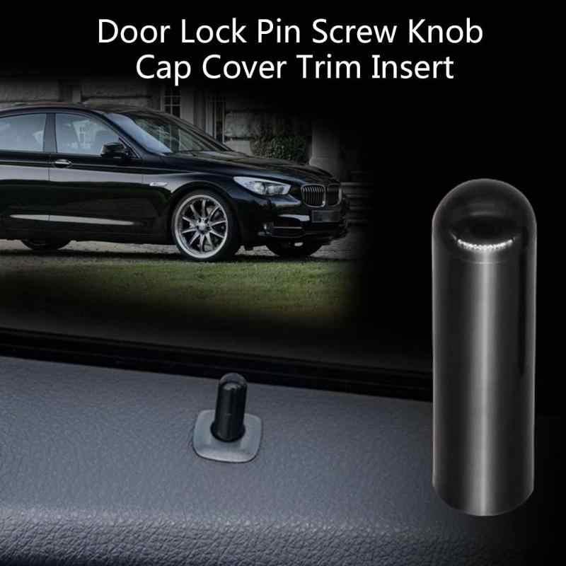 ปุ่มล็อคประตูพินสกรูลูกบิดสีดำสำหรับ BMW F10 F02 F07 E70 525 730X1X6