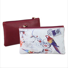 Women Wallet Art Print Clutch Bag Faux Leather Purse Phone Zipper Lady Wallets PU недорого