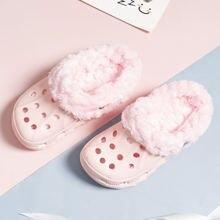 Детские тапочки для девочек; Теплые Сабо; Зимние кроссовки;