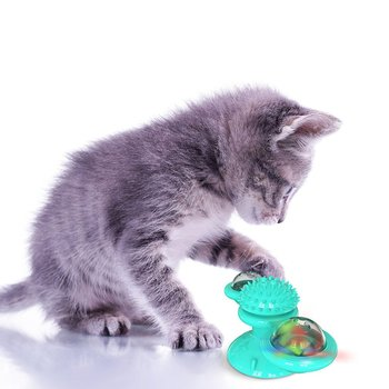 Pet supplies suction cup rotating from high to windmill Double transparent warehouse design Reduce Cat Anxiety from aztec to high tech