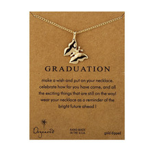 Fashion Jewelry Graduation Graceful Animal Insect Butterfly Message Chain Necklace Pendant For Women