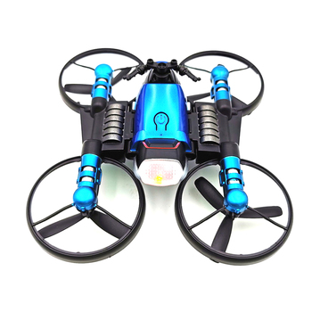 New 2.4G Deformation Motorcycle Folding Quadcopter Drone Double Mode 2 in 1 Toy DOM668
