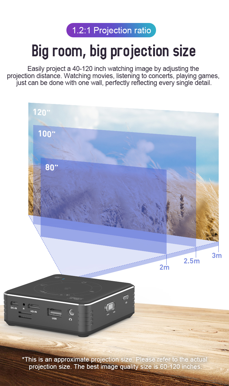 Alston c99 mini dlp android projetor wifi bluetooth 5.0 portátil led projetor de vídeo cinema em casa apoio miracast airplay-4