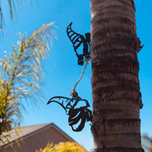 Gnomes-Decoration Steel-Branch Garden-Steel Metal Jardin Tree-Art Silver Outdoor