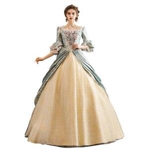 Платье 18-го века рококо барокко Мария-антонетт Бальные платья эпохи Возрождения исторический период платье викторианское платье
