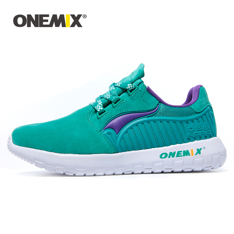 ONEMIX Mens Lightweight Running Shoes Ourdoors Fur Vamp Jogging Shoes Walking Sneakers Flexible Soft Breathale Sports Shoes