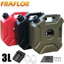 Réservoir dessence Portable 3l, pour moto, Jerry, réservoir dessence en plastique, pour voiture, Gokart, réservoir de rechange, pour ATV, UTV