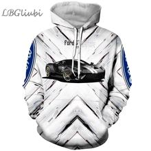 LBG New 3D printing Ford sports car men and women hoodie fashion jersey Harajuku casual