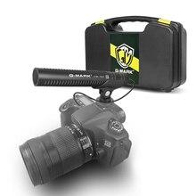цена на Camera microphone G-MARK CM707 DSLR Shotgun streaming microphone for Camcorder Phone PC Canon Sony Nikon