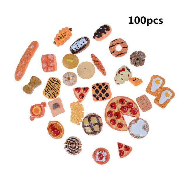 10 قطعة المنزل الحرفية صغيرة الغذاء حلية مصغرة دمية ديكور بيت الدمية اكسسوارات مقياس المنمنمات