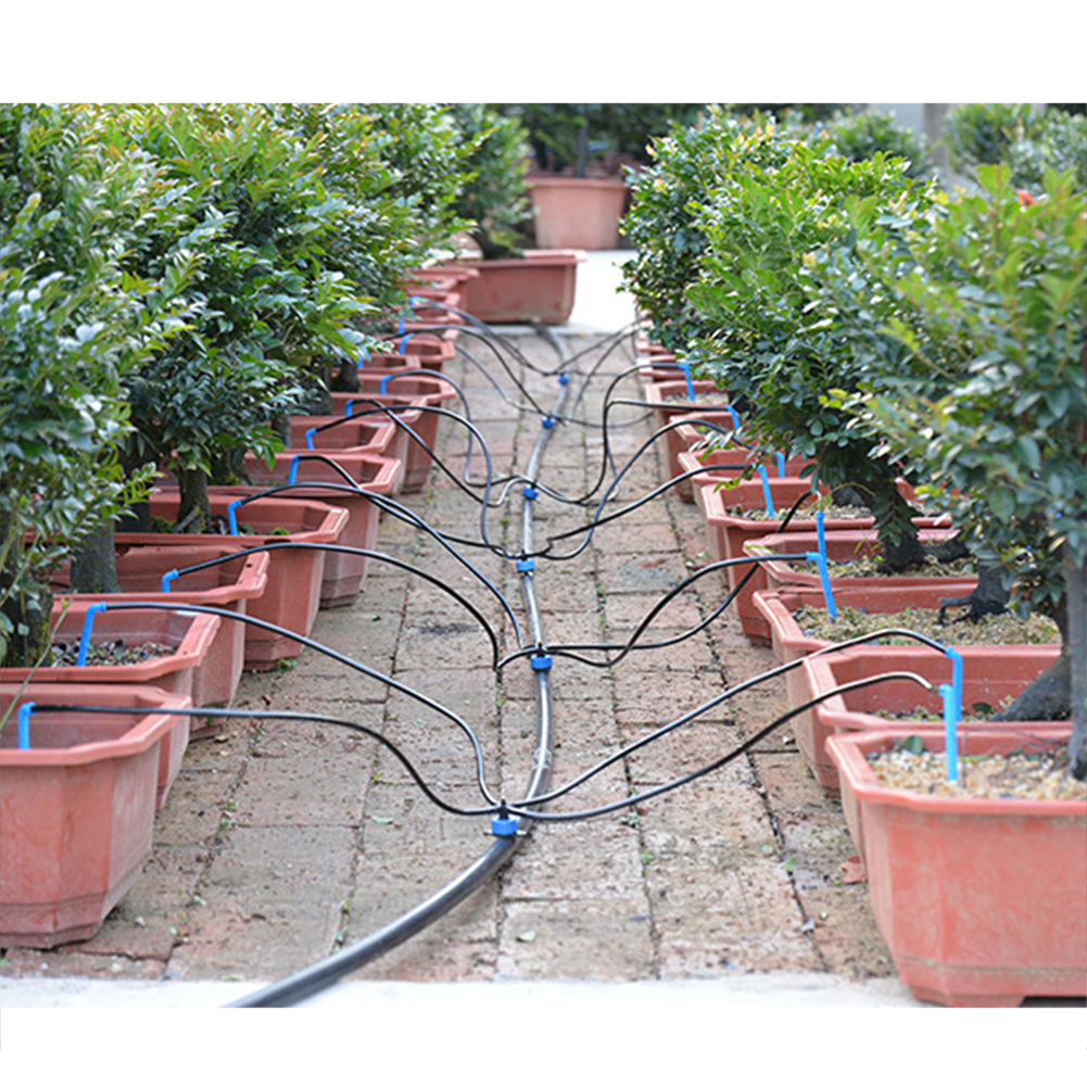 Micro Sistema De Irrigación Cesta Colgante Invernadero Jardín de riego Kit Set 23M