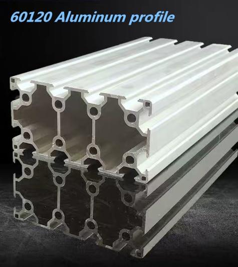 Industrial Aluminum Alloy Profiles European Standard 60120L Aluminum Square Tube Heavy-duty Assembly Line Automatic Bracket