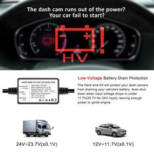 ZEROGOGO жесткий провод комплект 12 В до 5 В жесткий провод для приборной камеры автомобильный адаптер кабель для DVR Зарядка для приборной камеры провод для DVR с ACC