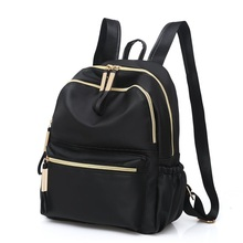 Women Black Backpack Oxford Cloth Large Capacity Waterproof Multifunctional Shoulder Bag Teenage Fashion Travel Tote
