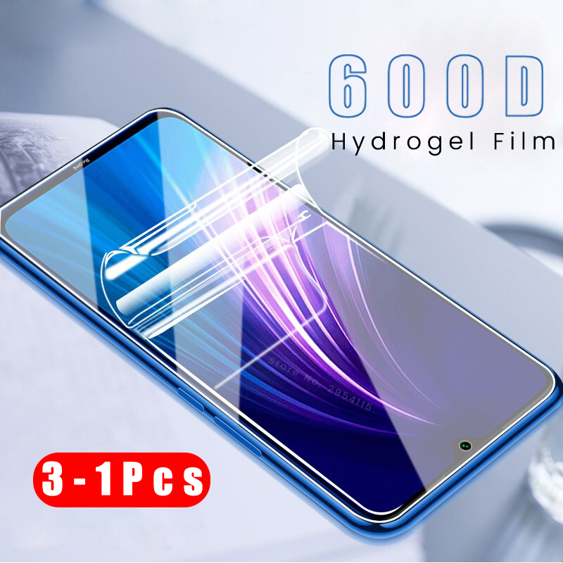 3-1pcs 600d tpu soft <font><b>hydrogel</b></font> protective film for xiaomi <font><b>redmi</b></font> note 8t <font><b>8</b></font> 7 pro 8a 7a pocophone f1 x2 screen protector guard film image