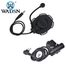 WADSN Bowman Evo III Softair Headsets Peltor Earphone Military Headphone+Push To Talk U94 Tactical PTT Kenwood Adapter WZ183(China)