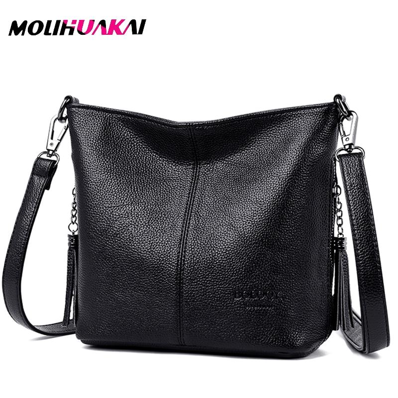 Women Leather Bags Ladies Luxury Shoulder Bags Women's Handbag Female Messenger Bag Fashion Crossbody Bags For Women Bolsas Sac