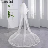 JaneVini 3M Cathedral Wedding Long Veil with Sequin Edge Comb White 2 Tier Bridal Veils Bride to be Ivory Wedding Accessories