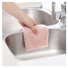 Durable 1PCS Non-stick Oil Dish Wash Cloth Towel Kitchen Tableware Cleaning Wiping Tools Kitchen Towels For Dishes