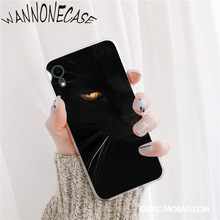 Black Cat Watch Eyes Pattern TPU Soft Phone Case For iPhone 8 7 6 6S Plus X XS MAX 5 5S SE XR 11 11pro promax Mobile Cover superheroes art pattern custom photo soft phone case for iphone 8 7 6 6s plus x xs max 5 5s se xr 11 11pro promax mobile cover