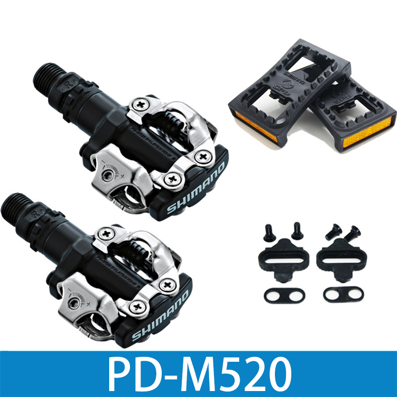PD M520 Clipless SPD Pedals MTB Bicycle Racing Mountain Bike Parts PD-M520 PD22