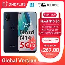 OnePlus Nord N10 5G smartfon wersja globalna 6GB 128GB Snapdragon 690 90Hz wyświetlacz 64MP Quad Cams Warp 30T NFC telefony komórkowe