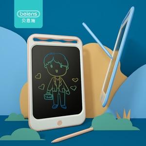 Image 1 - Beiens rysunek zabawki dla dzieci tablica do pisania LCD dzieci Tablet graficzny Scratch zabawka do malowania z anty erase Lock urodziny prezenty