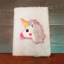 Kawaii Plush Unicorn Planner Notebook A5 Organizer Diary