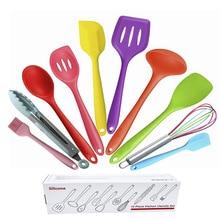10 Pcs Kitchenware Silicone Heat Resistant Kitchen Cooking Utensils Non-Stick Baking Tool Sets
