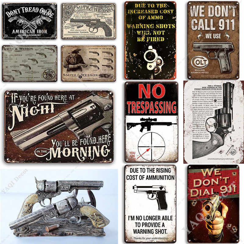 Metal Tin Sign colt guns  Bar Pub Home Vintage Retro Poster Cafe