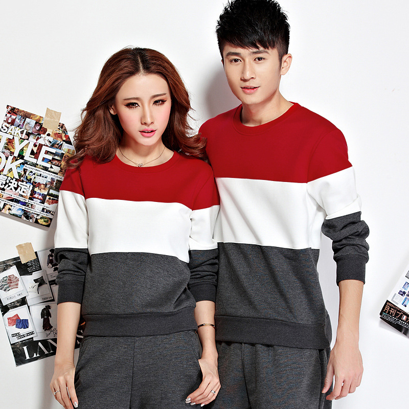 2018 Spring And Autumn New Style Couples Men And Women Sports Leisure Suit Crew Neck Slim Fit Outdoor Fitness Running Sports Clo