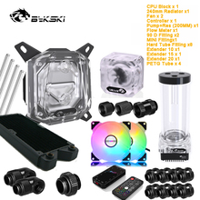 Bykski Diy Pc Split Harde Buis Waterkoeling Kit Voor Intel Amd Ryzen/Nvidia Rtx 3080 3090 Video kaart, cpu + Gpu Koeler Set Mod