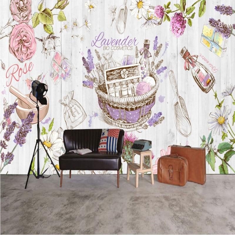 Drop Shipping Custom 3d Wallpaper Beauty Salon Health Museum Decoration Mural Poster Murals Bedroom Living Room Wallpaper